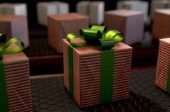 Gift box production line Stock Illustration