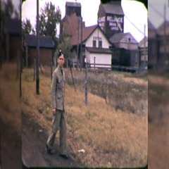 Young Man Soldier World War II WW2 1940s Vintage Film Home Movie 10568 Stock Footage