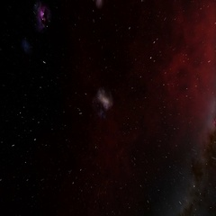 Beautiful Universal Space Travel 3D Animation Stock Footage