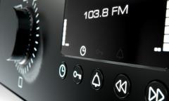 Radio dials closeups Stock Illustration