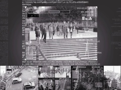 Park - Security Camera - Surveillance - Cyber - grey - SD Stock Footage