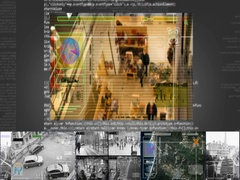 Mall - Security Camera - Surveillance - Cyber - grey - SD Stock Footage