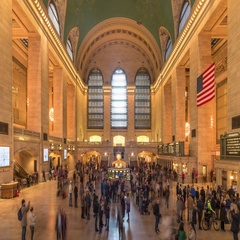 UHD grand central terminal tourists Stock Footage
