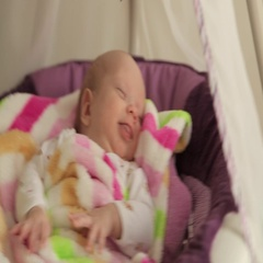 Baby sleeping in crib Stock Footage