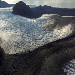 Jagged Glacier and Blue Ice Reveal Stock Footage