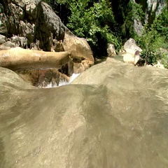 Natural spring water in Kastamonu Stock Footage