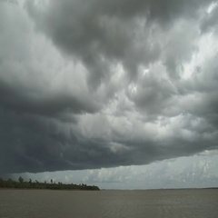Timelapse of a cloudy sky just before a storm. Stock Footage