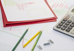 Graphs, charts, business table Stock Photos