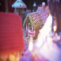 Christmas gingerbread house. New Year atmosphere Stock Footage