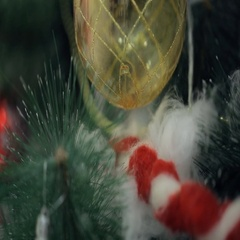 Christmas tree is ready to celebrate New Year, other holidays Stock Footage