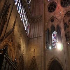 PARIS, FRANCE: Interior of Notre Dame de Paris. France Stock Footage