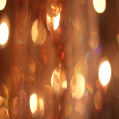 Large orange chandelier of glass Stock Footage