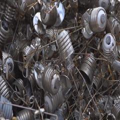 Dump halogen light bulbs Stock Footage