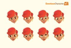 Womens  facial expressions set. Stock Illustration