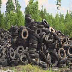 Dump of tires from the car Stock Footage
