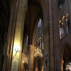 PARIS, FRANCE: Interior of Notre Dame de Paris Stock Footage
