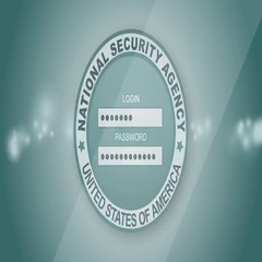 NSA computer interface. Simulated computer monitor National Security Agency Stock Footage