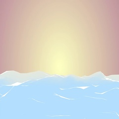 Low Poly Sunset Stock Footage