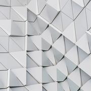 Abstract 3d illustration architectural pattern Stock Illustration