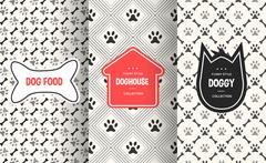 Dog seamless pattern background. Vector illustration for animal pet design Piirros