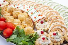 Appetizers on plate Stock Photos