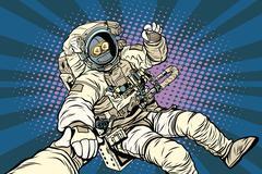 Follow me robot astronaut gesture okay Stock Illustration
