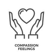 Compassion feelings icon Stock Illustration