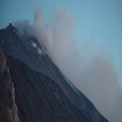 Volcano sicily stromboli lava active italy mountain explosive smoke Stock Footage
