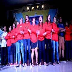 Women Sorority Sisters College singing hymn Stock Footage