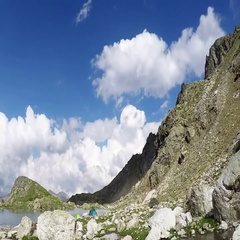 Summer in mountains timelapse Stock Footage