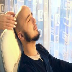 Man receiving head massage Stock Footage