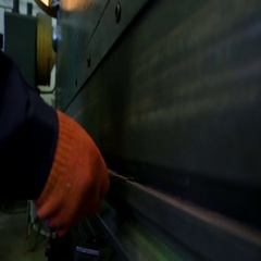 Bending of sheet metal parts. Bending machine Stock Footage