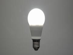 Energy saving led bulb turning on Stock Footage