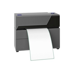 Barcode printer gray office technology Stock Footage