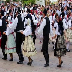International Folklore Festival on August 16, 2016 in Hungary, Pecs city Stock Footage