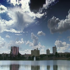 Downtown Lakeland in Central Florida Stock Footage