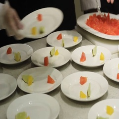Chef decorate Dishes in Luxury Restaurant Stock Footage