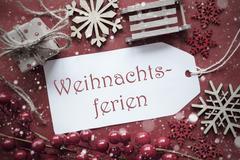 Nostalgic Decoration, Label With Weihnachtsferien Means Christmas Break Kuvituskuvat