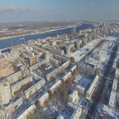 City of Perm in Russia in the winter. Central District. Stock Footage