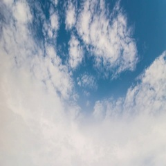Timelapse of blue sky with clouds over the Phuket island, Thailand Stock Footage