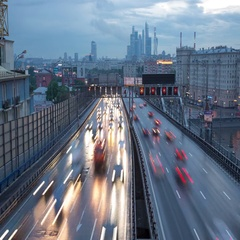 Traffic on the Third Transport Ring in Moscow Stock Footage
