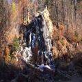 4k Upcoming winter first frost at Radau waterfall in sunny Harz mountain range 4k or 4k+ Resolution