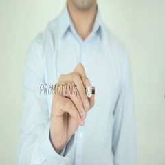 Promoting Website, Writing On Screen Stock Footage