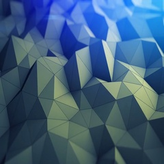 Polygonal geometric background seamles loop 3D render 4k UHD (3840x2160) Stock Footage