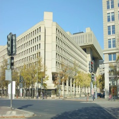 J. Edgar Hoover Building - FBI Headquaters Stock Footage