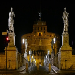 Amazing Castel Sant Angelo in Rome - Angels Castle a beautiful place Stock Footage