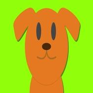 Cute dog labrador animation, green screen with shadow loop Stock Footage
