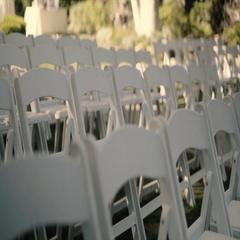 4K UHD White Wedding Chairs Stock Footage