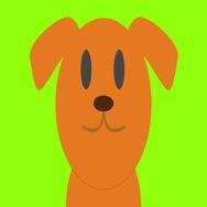 Cute dog labrador animation, green screen loop Stock Footage