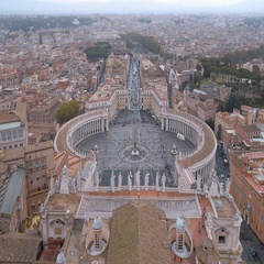 Impressive Vatican in Rome - the most important place for catholic pilgrims Stock Footage